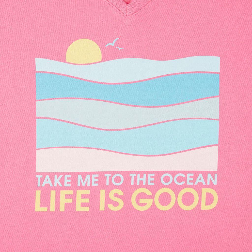 0f8500a45a35e Life is Good® Women's Take Me to the Ocean V-Neck T-Shirt, Medium