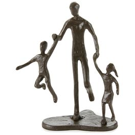 Father With 2 Children Metal Figurine, , large