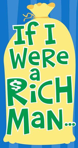 If I Were Rich Bar Mitzvah Money Holder Card