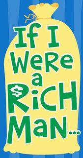 If I Were Rich Bar Mitzvah Money Holder Card,