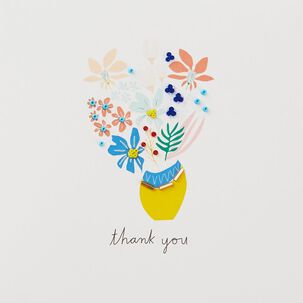 Flower Bouquet I Appreciate You Thank You Card