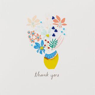 Flower Bouquet I Appreciate You Thank You Card,