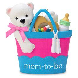 Mom-to-Be Basket Ornament, , large