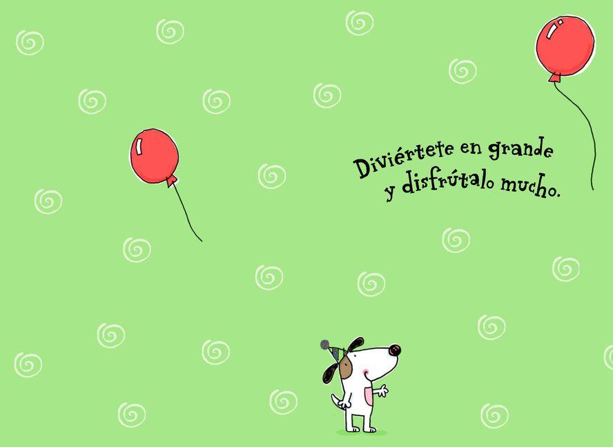 Puppies And Playground Spanish Language Birthday Card For Child