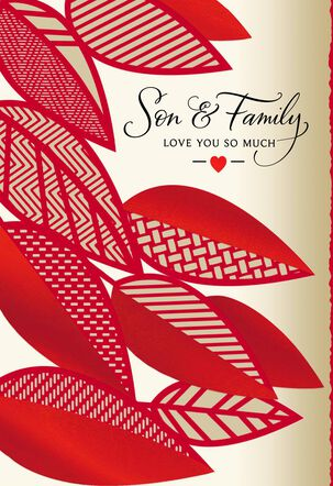 Love You So Much Valentine's Day Card for Son and Family