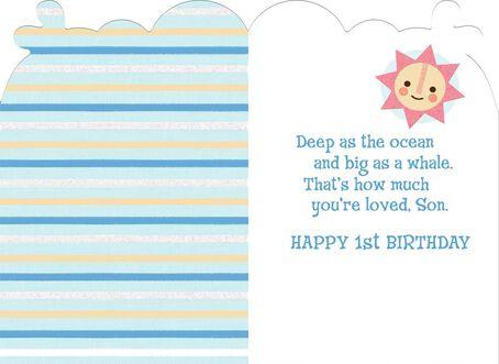 Sons First Birthday Card Greeting Cards Hallmark – Son 1st Birthday Card