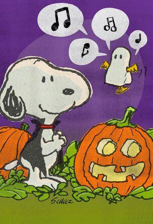 Snoopy and Woodstock  Wish You Tweets Halloween Card