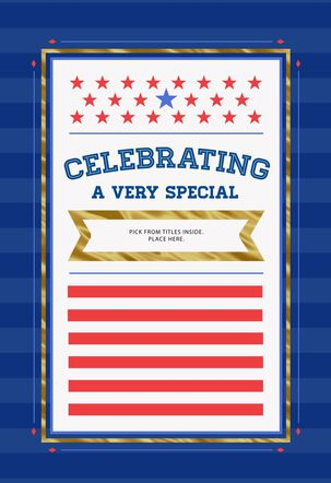 Customizable Public Service/Military Graduation Card with Stickers