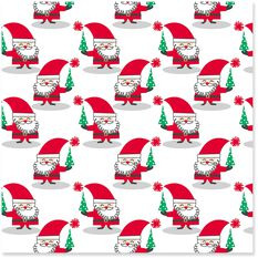 Mod Santa Christmas Wrapping Paper Roll 45 Sq Ft