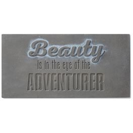 Beauty Is in Eye of Adventurer Stamped Concrete Sign, 12x6, , large