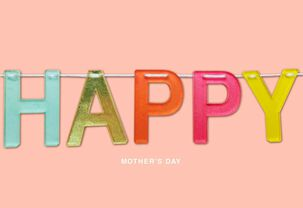 Happy Banner Mother's Day Card