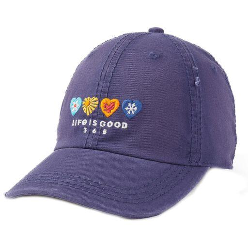 6e6229f9971801 Life is Good 365 Hearts Sunwashed Baseball Cap, ...