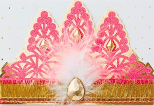 Princess Crown Birthday Card