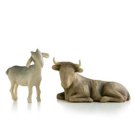 Willow Tree® Ox & Goat Nativity Figurines, , large