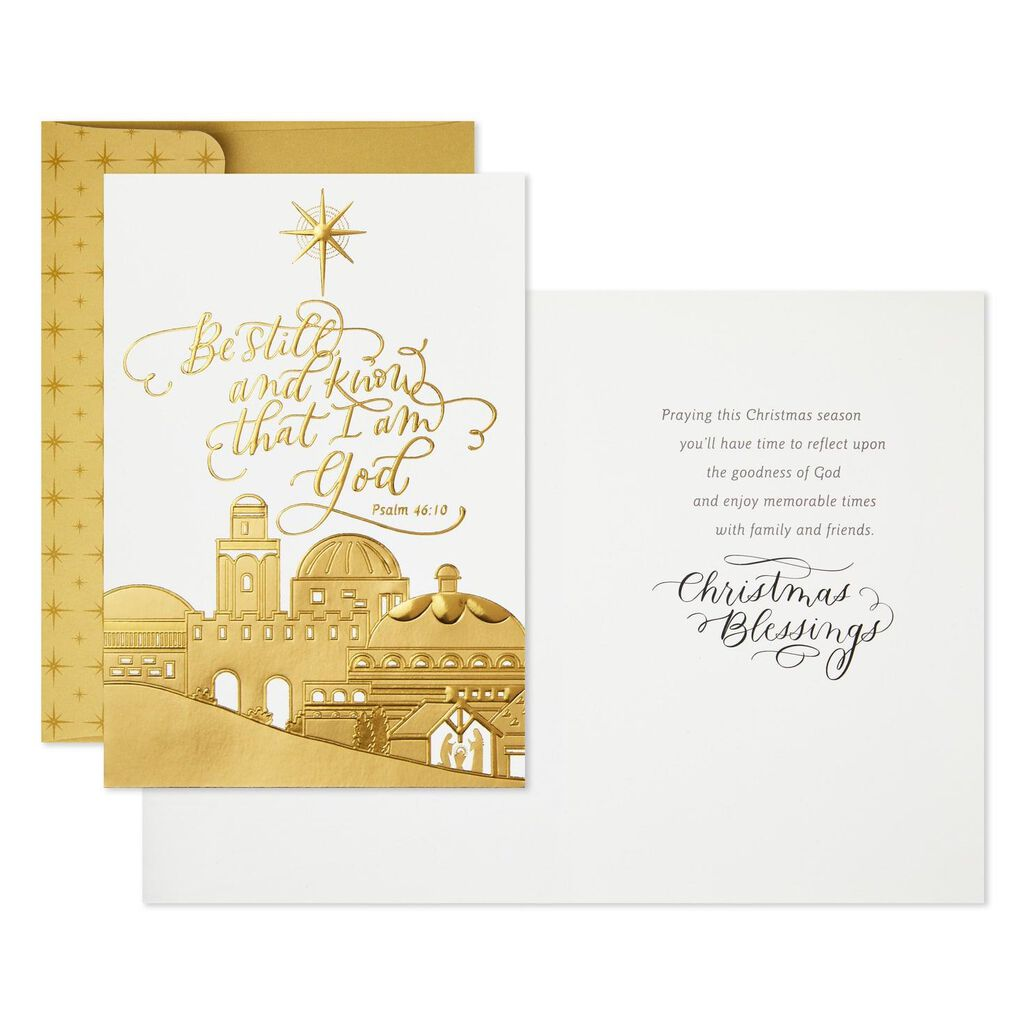 Religious Christmas Cards.City Of Bethlehem Religious Christmas Cards Box Of 16