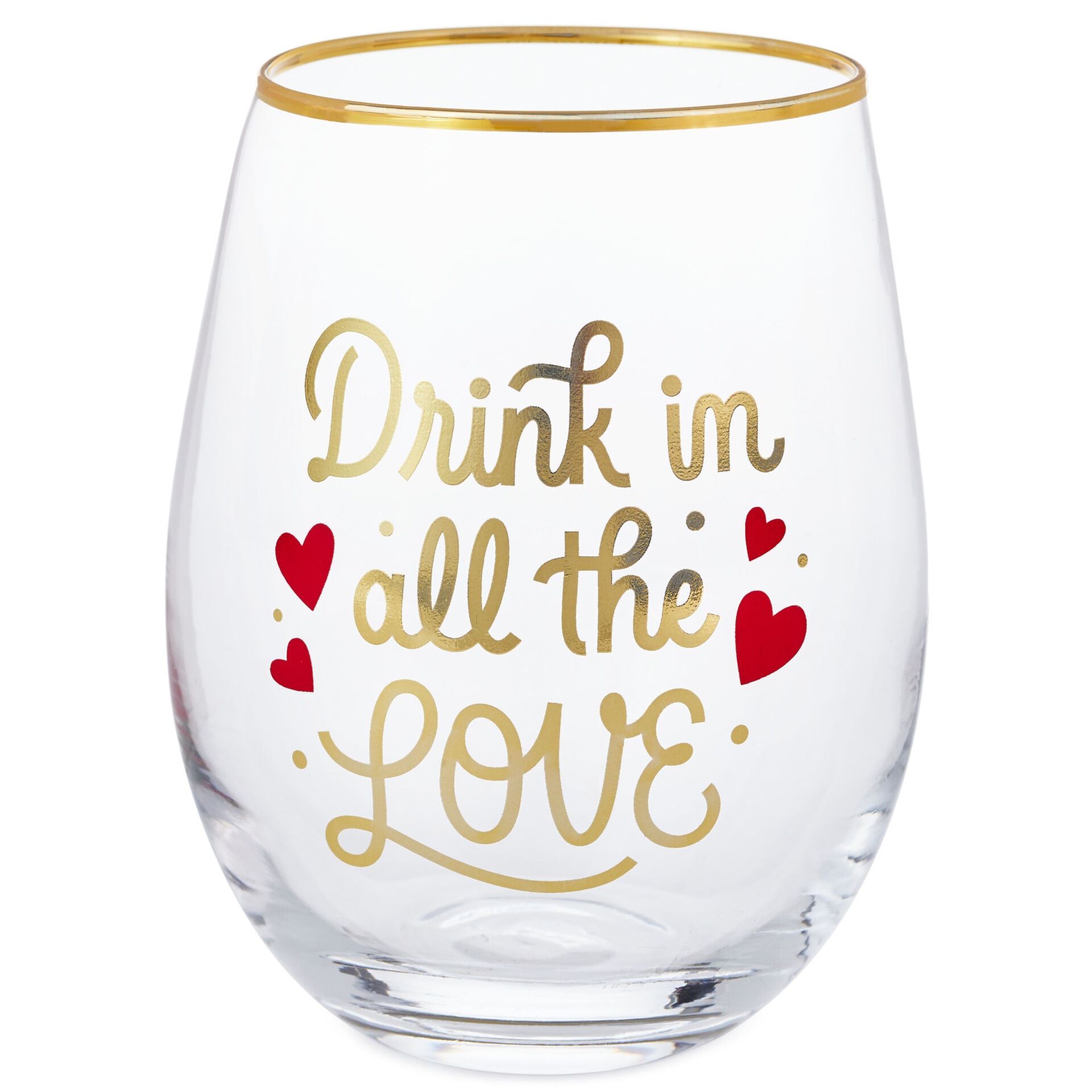 Drink In All the Love Stemless Wine Glass, 16 oz.