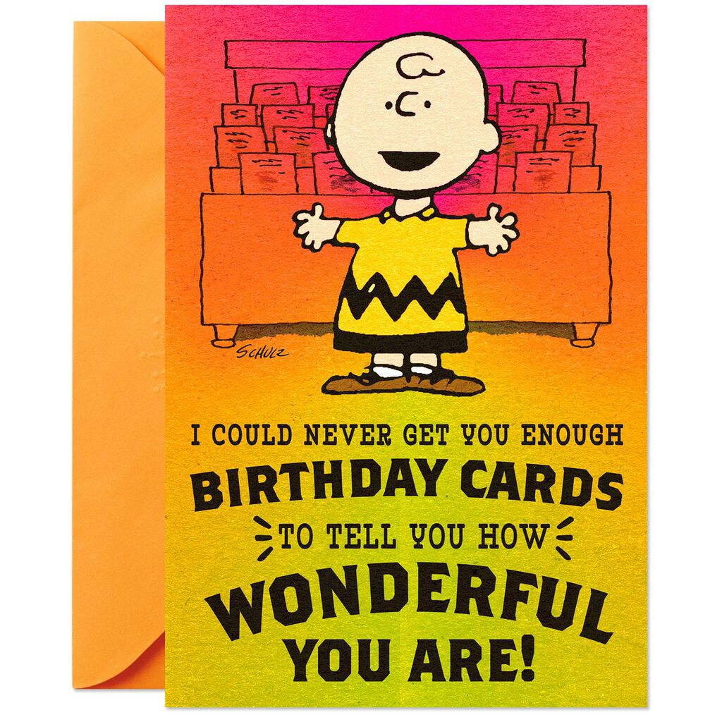 PeanutsR Charlie Brown How Wonderful You Are Birthday Card