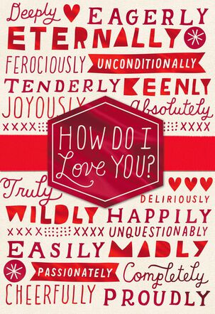 The Right Words Valentine's Day Card