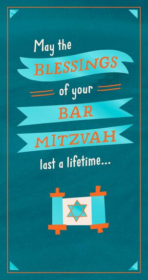 Blessings for a Lifetime Money Holder Bar Mitzvah Card