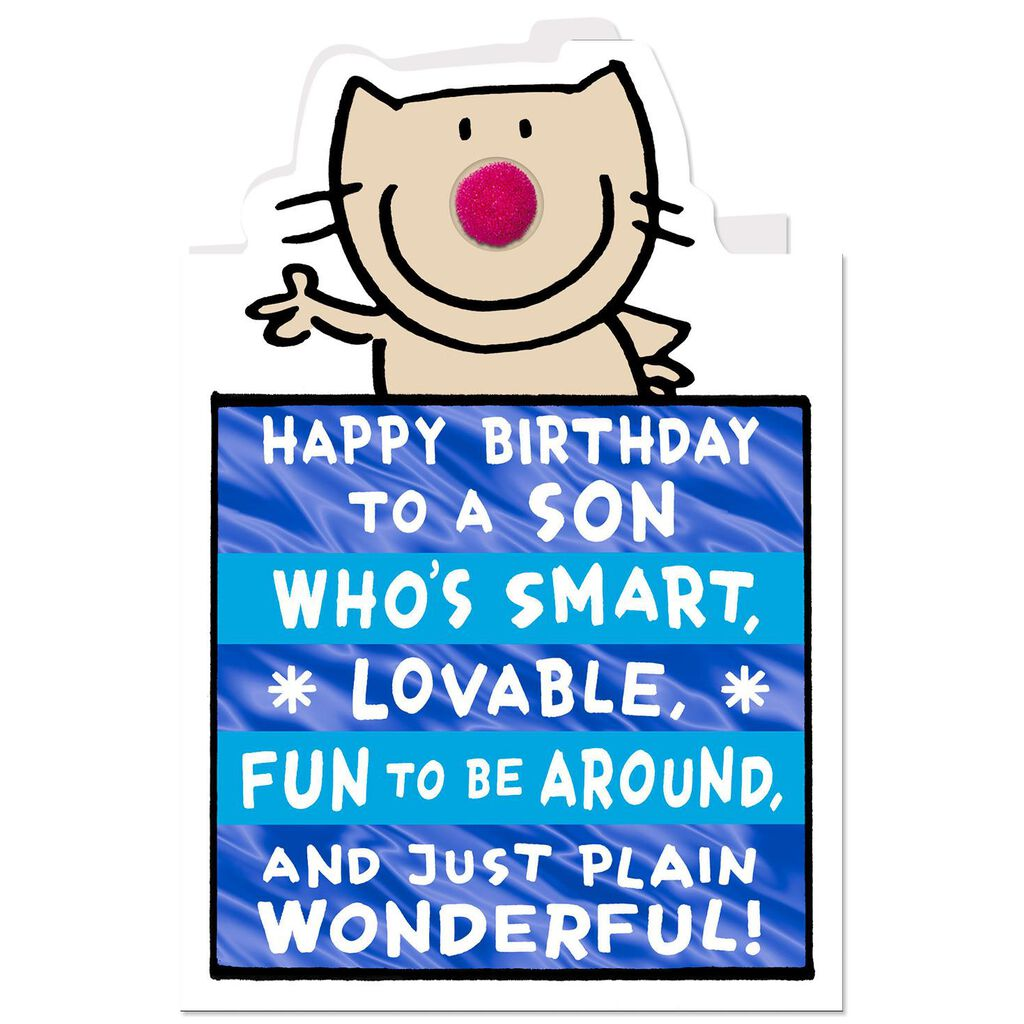 Smart Lovable And Fun Funny Birthday Card For Son