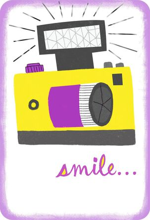 Smile for the Camera Congratulations Card