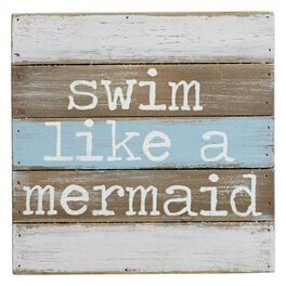 Mud Pie® Swim Like a Mermaid Wall Plaque, , large