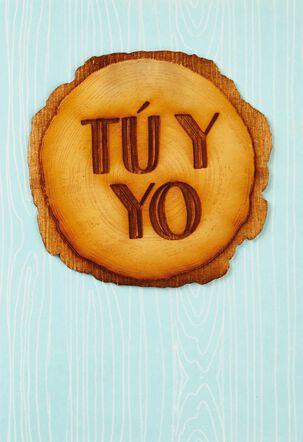 Tú y Yo Spanish Language Birthday Card