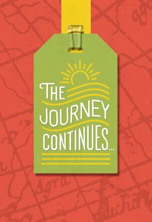 The Journey Continues Graduation Card With Luggage Tag