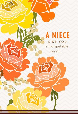 Orange and Yellow Roses Mother's Day Card for Niece