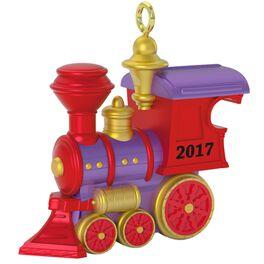 Teeny Toy Train Mini Ornament, , large