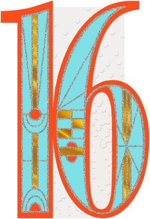 Art Deco 16th Birthday Card