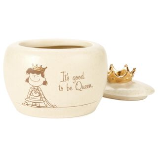 "Peanuts® Lucy Queen Treasure Box, 4"","