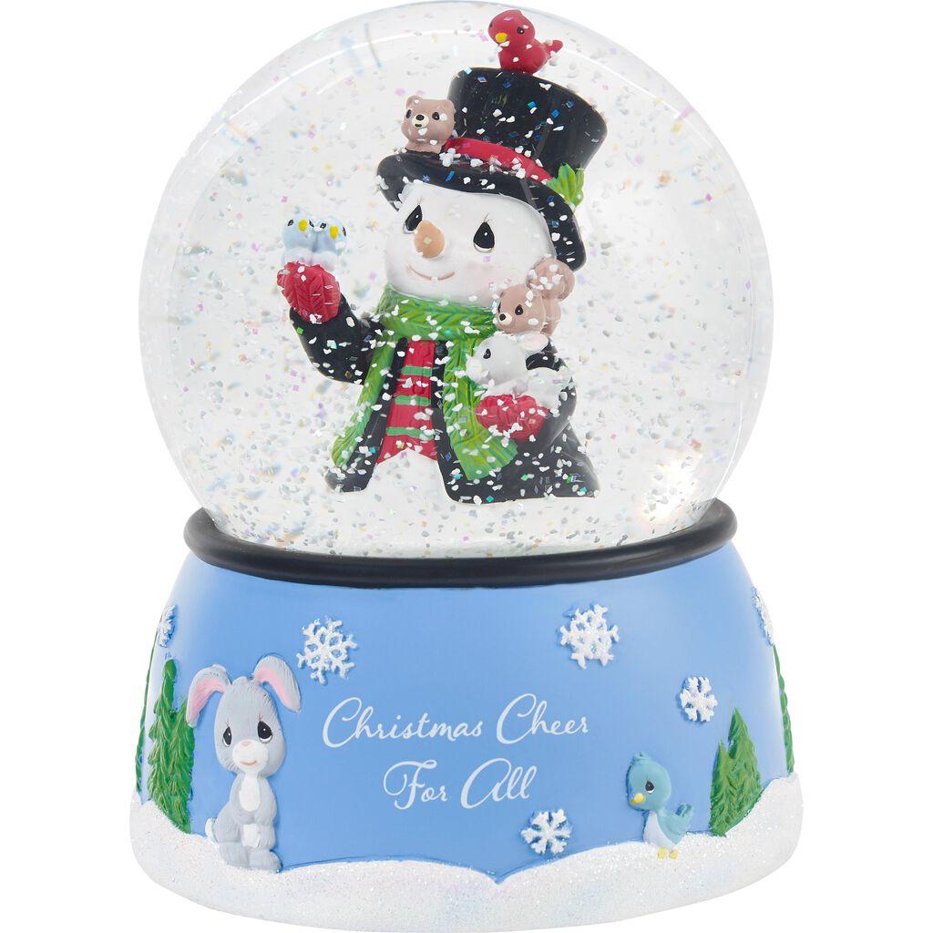 Precious Moments Christmas Cheer Snowman Musical Snow Globe