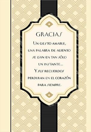 Heartfelt Kindness Spanish-Language Thank You Card