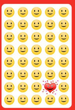 Emoji Fun For a Son Funny Valentine's Day Card