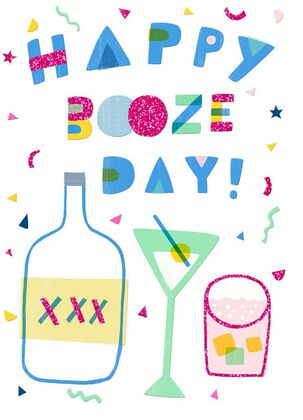 Booze Day Just Because Card