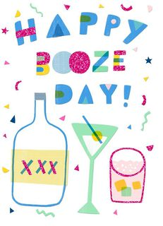 Booze Day Just Because Card,