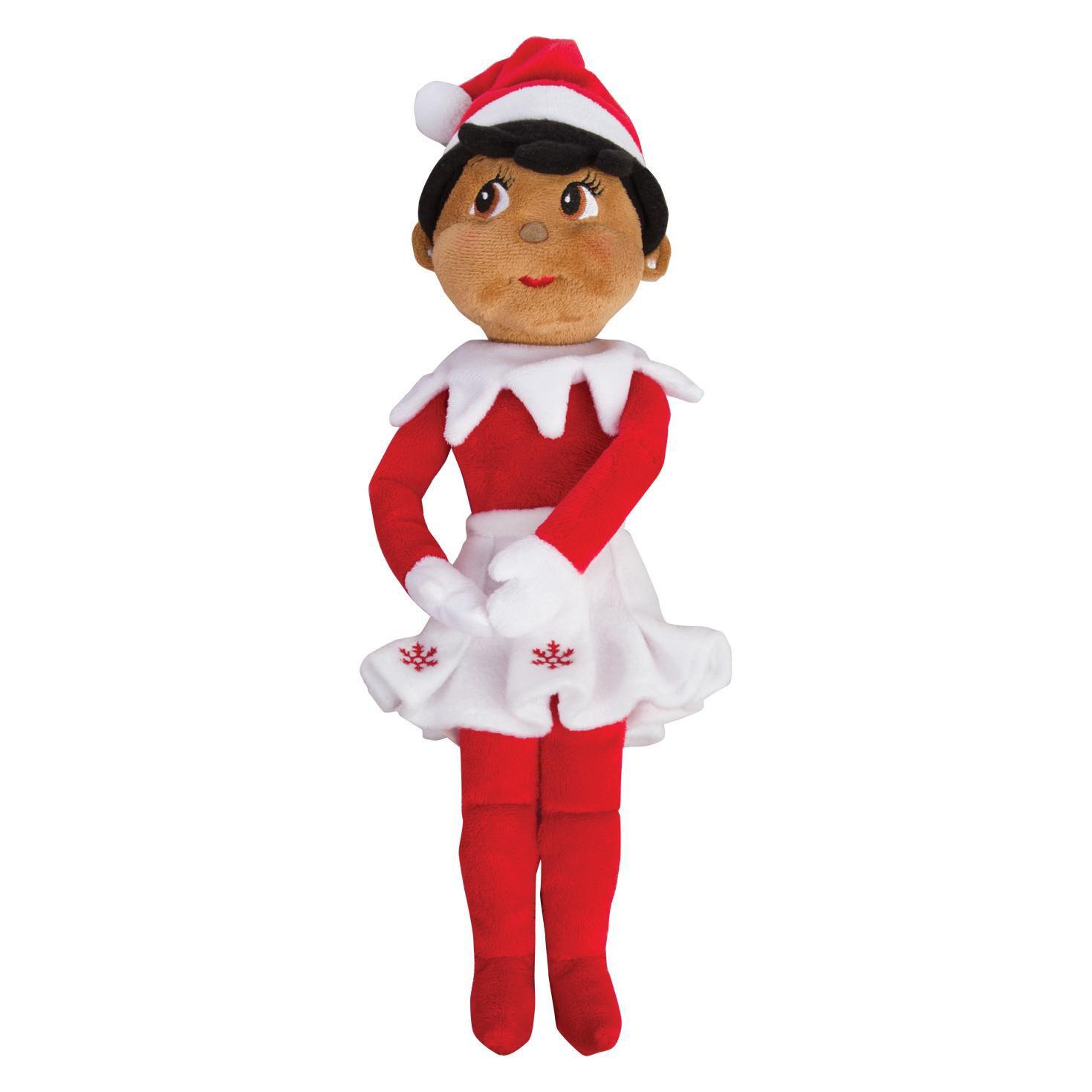 The Elf on the Shelf Girl Elf Plushee Pal Dark Skin Dolls