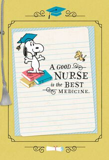 Snoopy Nursing School Graduation Card,