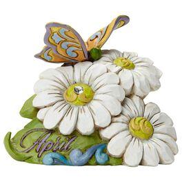 Jim Shore® April Diamond Birthstone and Daisy Flower Figurine, , large