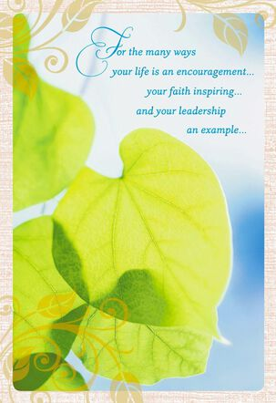 Peace in Nature Clergy Appreciation Card