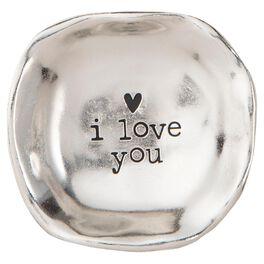 Natural Life I Love You Silver Mini Trinket Tray, , large