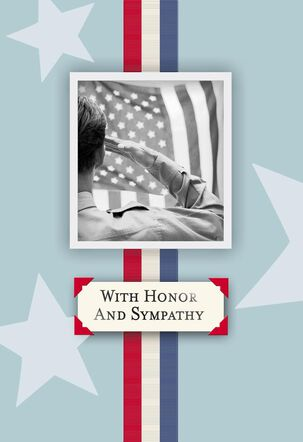 Ribbon Military Personnel Sympathy Card