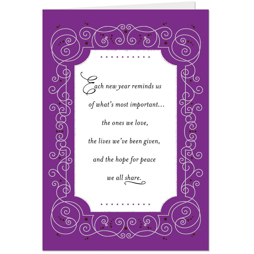 hope for peace we share new year card