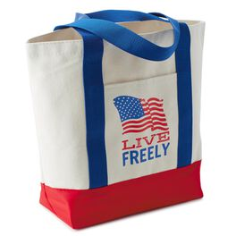 Live Freely Canvas Tote Bag, , large
