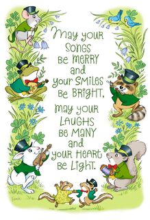 Irish Animals St. Patrick's Day Cards, Pack of 6,