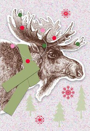 Merry Chris-moose! Christmas Card