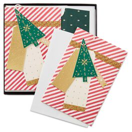 Candy Cane Stripes With Ornament Christmas Cards, Box of 8, , large