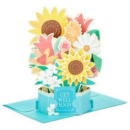 Sunflower Bouquet Pop Up Get Well Card, , large