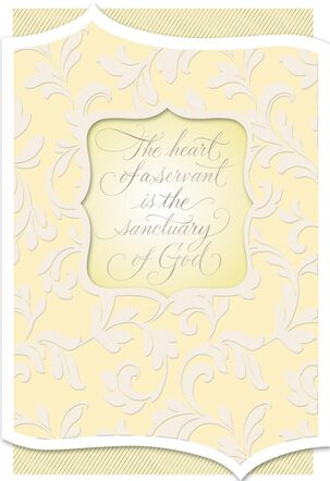 Heart of a Servant Thank You Card